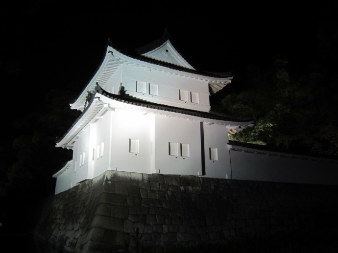 Nijo castle in darkness