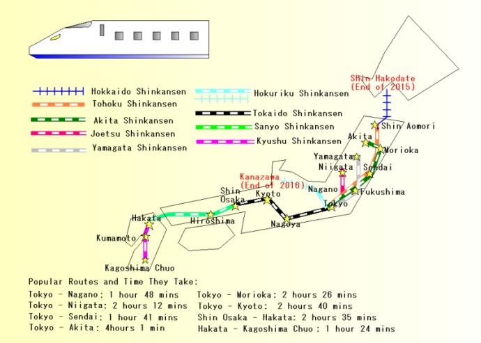 Shinkansen Map
