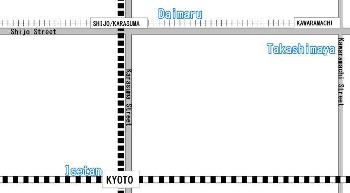 Kyoto Department Stores Map