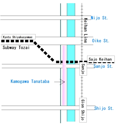Kyo no Tanabata Kamogawa Map